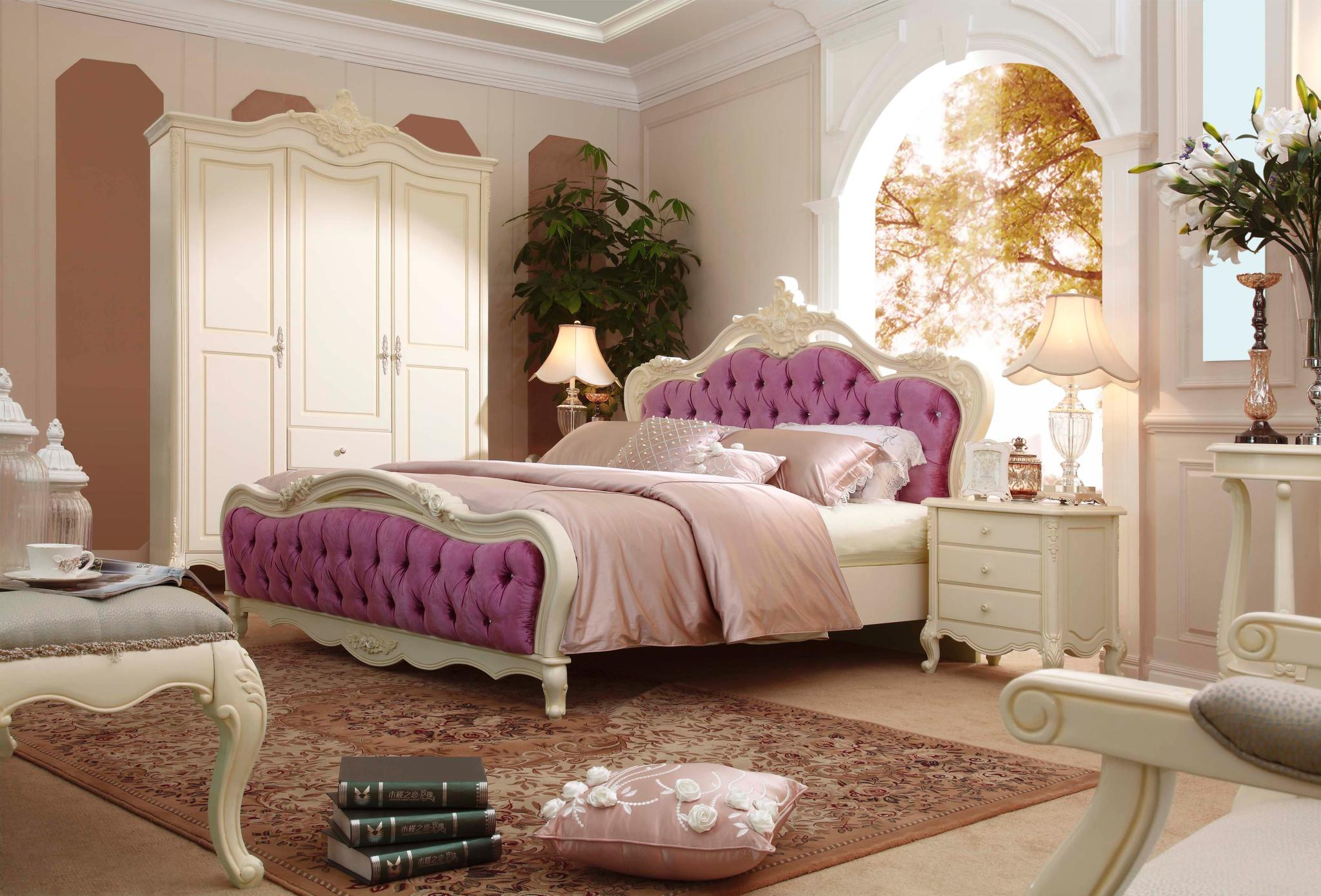 8m欧式床 材质 美国橡森图片